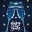 Thumbnail: Carte postale  - Bonne année  - flutes à champagne bleues