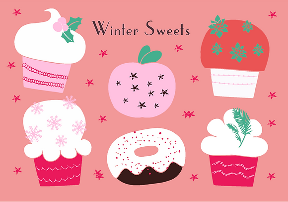 Postcard - Winter sweets