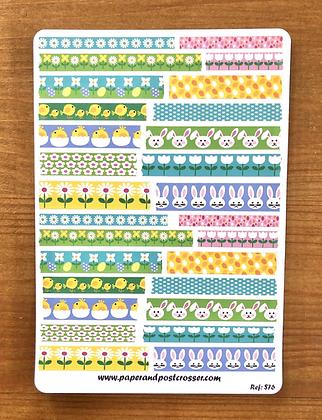 Stickers - Mini washi-like spring stickers