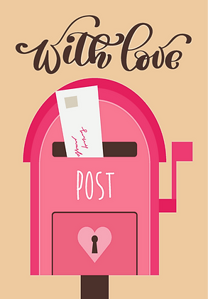 Postcard - Postbox / With Love