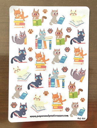Stickers - Reading cats
