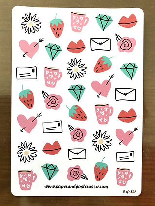 Stickers - Love doodles