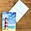 Thumbnail: Carte postale - Phare sur une plage