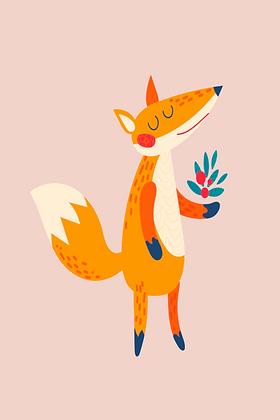 Postcard - Dreamy Fox