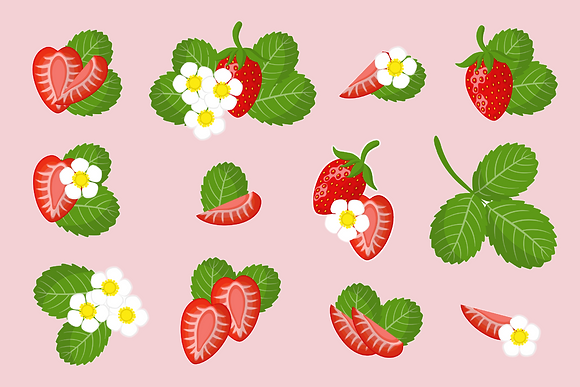 Postcard - Strawberries