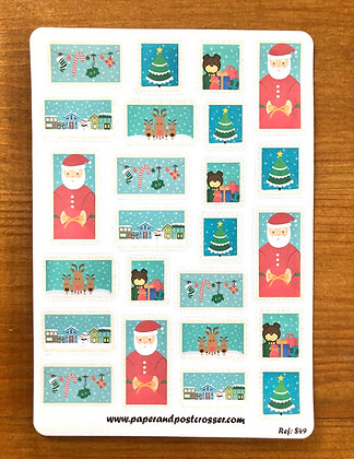Stickers - Christmas - stamps style