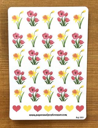 Autocollants - Narcisses et tulipes
