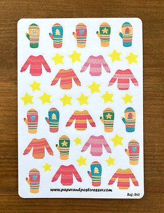 Stickers - Winter sweaters and gloves