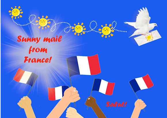 Postcard - Sunny mail from France