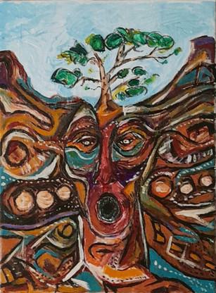 han drömmer träden tillbaka till jorden / he dreams the trees back to the earth