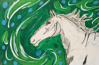spring wind horse