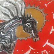 ᔫᑎᓇᐢᑎᒼ / wind horse