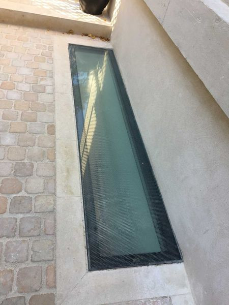 Dalle extérieure de sol en verre avec double vitrage et anti-dérapant