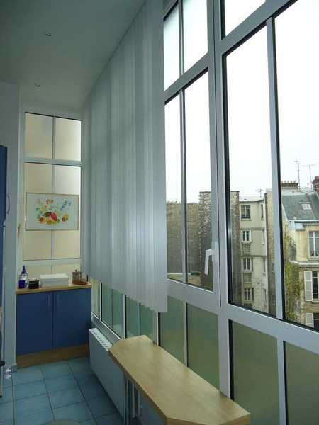 Fenêtres et fixes avec allège vitrée d'un bow window