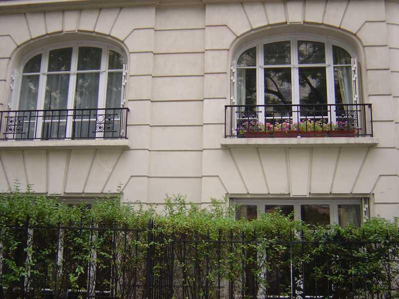 Double fenêtre bois avec fixes et petits bois
