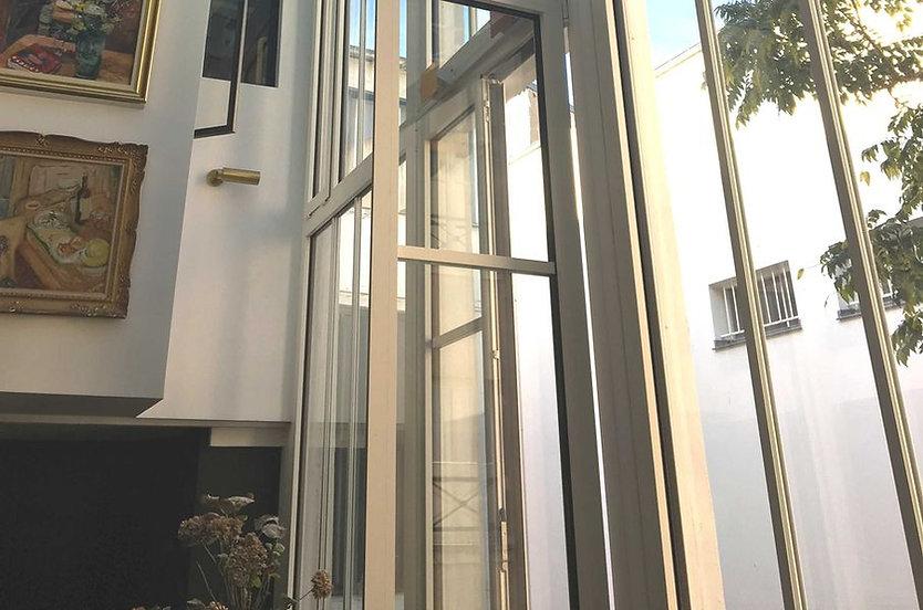 fenêtre aluminium ouvrant caché - Paris - Boulogne - Neuilly - Miroiterie Dewerpe