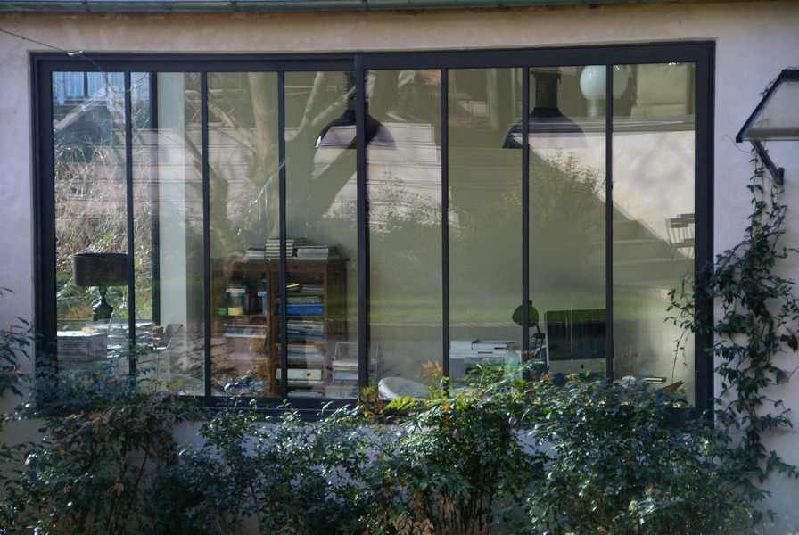 fenêtre coulissante 2 vantaux type atelier