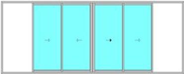 Coulissant 4 vantaux à galandage