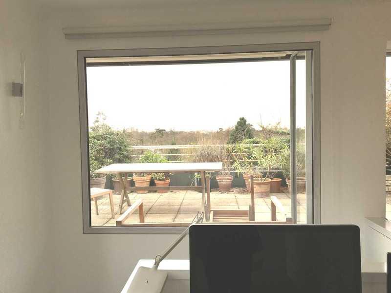 Grande fenêtre  fixe en aluminium