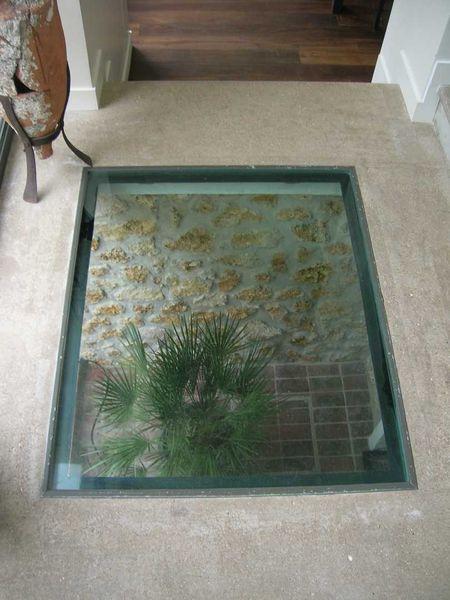 Dalle de plancher en verre trempé
