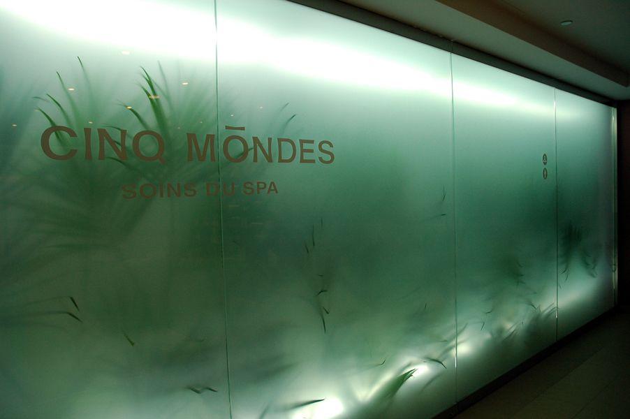 Séparations vitrées en verre dépoli