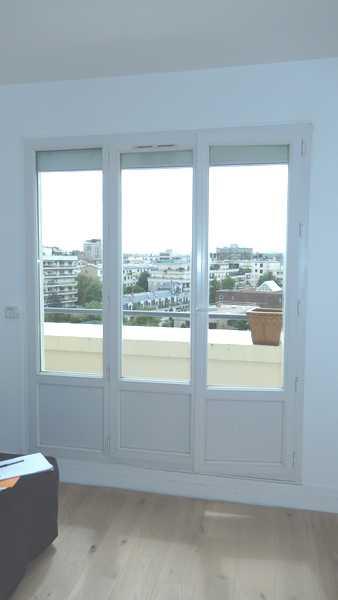 Porte-fenêtre PVC avec soubassement plein