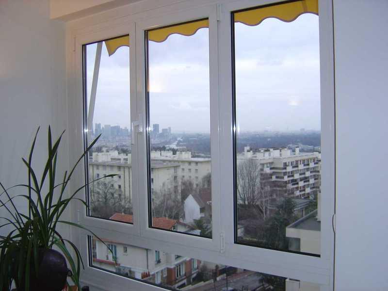 Fenêtre composée avec ouvrants et fixe