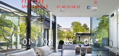 Fenêtre minimale - Baie minimaliste - Paris - Boulogne - Neuilly - Miroiterie DewerpeFiche produit fenêtre Espace 70 TH Qualibat RGE  - Paris - Boulogne - Neuilly - Miroiterie Dewerpe
