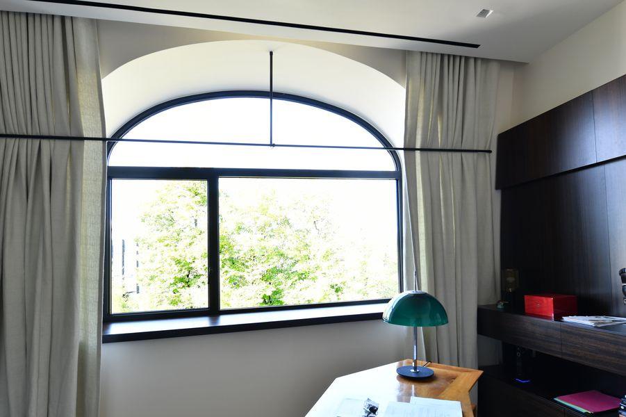 Grande fenêtre avec 1 fixe et un imposte cintré