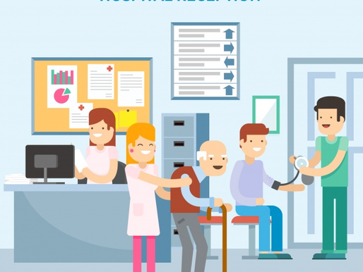 Good and bad ways of customer service greeting in hospital