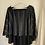 Thumbnail: Glitter stripe velvet velour cape top