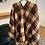 Thumbnail: Furry wool blend cape scarf