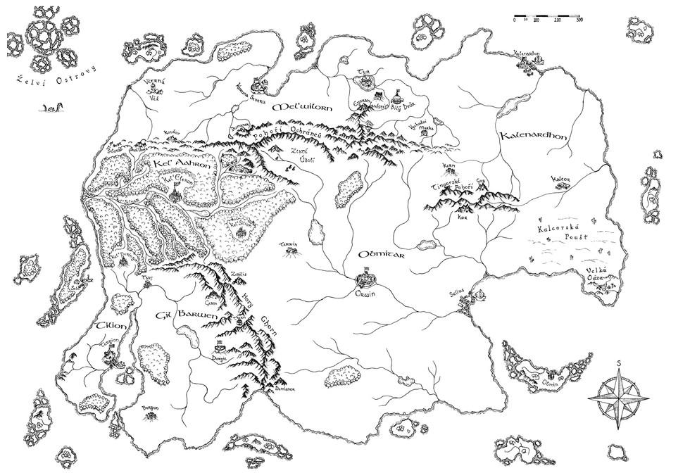 Mapa Erganského světa