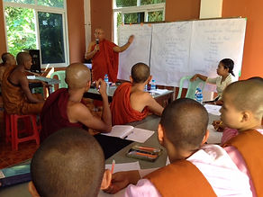 Peace-building training with monks and nuns.JPG