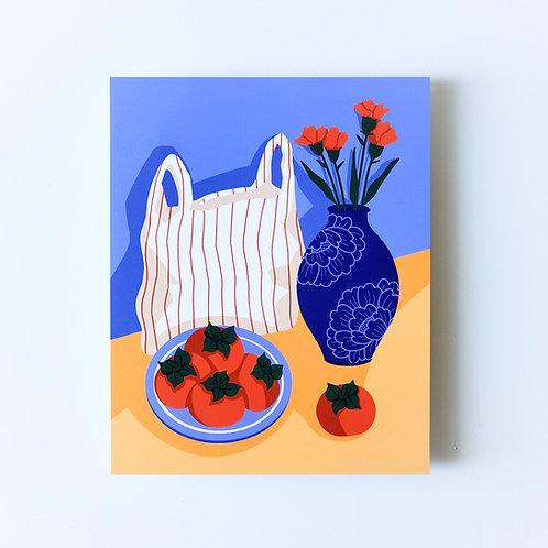 persimmons - art print
