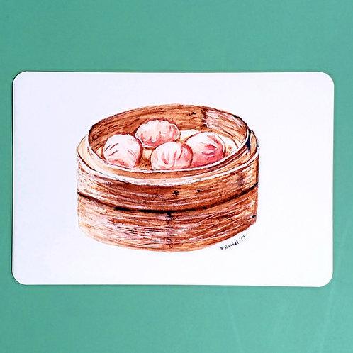 shrimp dumpling | har gao glossy print