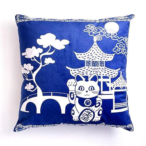 velveteen cushion cover - Gin Mao Mao