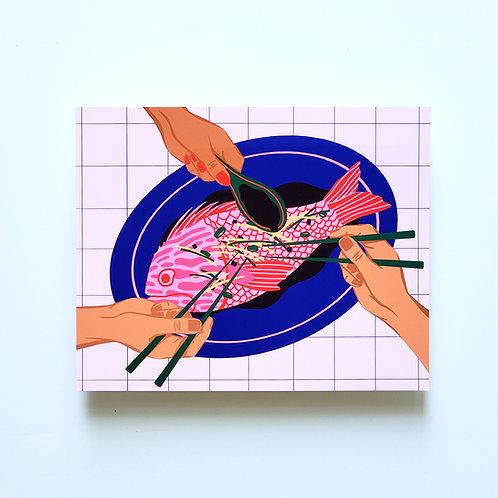 fish for dinner - art print