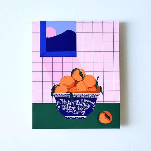 lucky oranges - art print