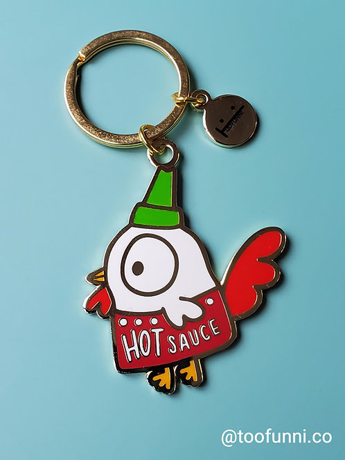 rooster hot sauce keychain
