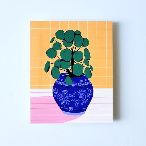 chinese money plant - art print