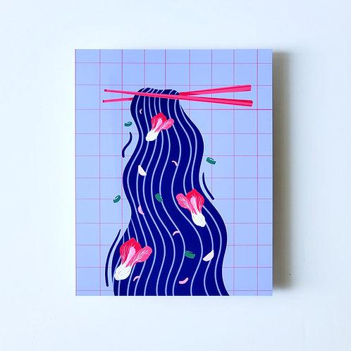 long life noodles - art print