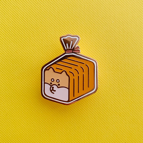 shiba loaf enamel pin