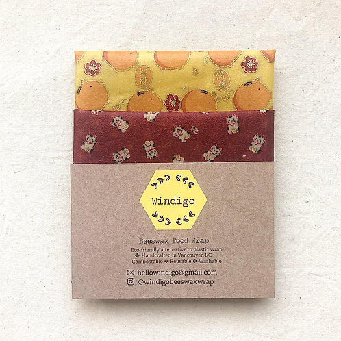 beeswax food wrap - combo