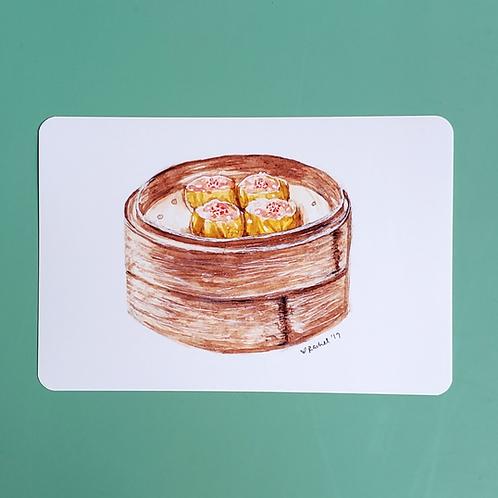pork & shrimp dumpling | siu mai glossy print