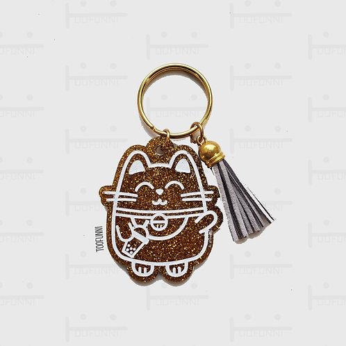 LNY gold acrylic keychains