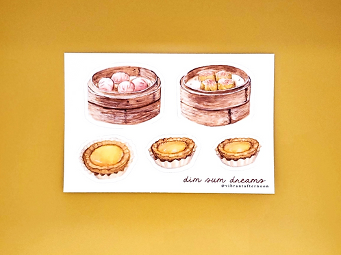 dim sum dreams sticker sheet