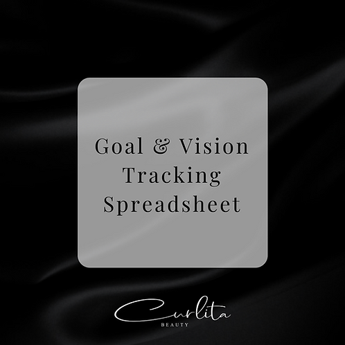 Goal & Vision Tracking Spreadsheet