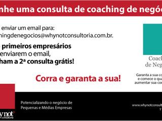 Ganhe uma consulta de coaching de negócios.
