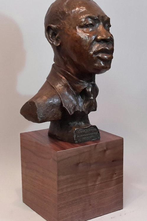 """""""Dr. Martin L. King Jr."""" Bronze bust"""